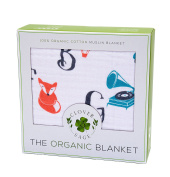 Muslin Blanket for Baby & Toddler - Four Layers of 100% Certified Organic Cotton - Alphabet