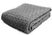 SonnenStrick 100% Organic Cotton Baby Blanket Made in Germany (100cm x 90cm ) Grey