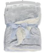 Mon Lapin Reversible Blanket - blue, one size