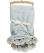 Mon Lapin Faux Fur Blanket - blue, one size