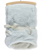 Mon Lapin Hooded Faux Fur Blanket - blue, one size