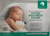 Padded Waterproof Mattress Sheet | Fits Bassinet, Portable and Mini-Cribs | Waterproof & Dryer Friendly | Premium Microfiber Fitted Crib Protector | Comfortable & Hypoallergenic | by Green Frog