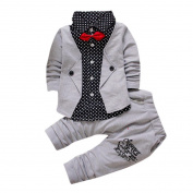 TRENDINAO Toddlers Boys Clothes Formal Party Christening Wedding Tuxedo Bow Gentleman Suit Clothing Set