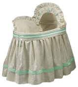 BabyDoll Baby King and Queen Bassinet Liner/Skirt & Hood, Green, 43cm x 80cm