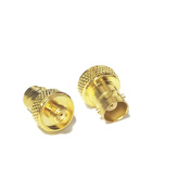 2pcs RF coaxial coax adapter SMA female to BNC female goldplated straight USA Shipping