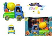 Children Toy Construction Lorry Truck Set of Cement Mixer With Drill And Tools