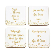 Gin Coasters - Gold Edition, Set of 4