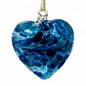 December Turquoise 8cm Birthstone Glass Heart