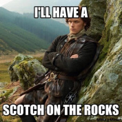 NOVELTY I'LL HAVE A SCOTCH ON THE ROCKS OUTLANDER JAMIE COASTER