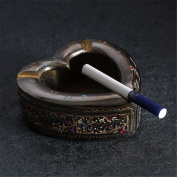 Bronze ashtray exquisite carved fireworks creative personality retro smoke cylinder