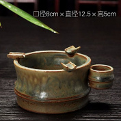 Chinese ashtray creative mouth with a cover personality trend of multi - functional European - style retro ashtray, B