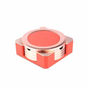 Creative Personality with a cover can be aerial ashtray personality creative leather square ashtray, red