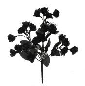 20 Mini Open Roses BLACK Silk Wedding Flowers Bouquets Centrepieces