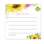 Bright Floral Advice and Wishes Game Card Pack of 25