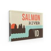 Fridge Magnet USA Rivers Salmon River - Idaho - NEONBLOND
