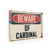 Fridge Magnet Beware Of Cardinal Vintage Funny Sign - NEONBLOND