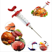 vLoveLife Meat Marinade Injector Syringe Seasoning Sauce Cooking Meat Poultry Turkey Chicken Flavour Syringe For BBQ Kitchen Cooking Tool