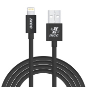 Extra Long iPhone Charger Cable, iXCC 3m Lightning 8pin to USB Charge and Data Cord for iPhone SE/5/5s/6/6s/6s Plus/7/7 Plus/iPad Mini/Air/Pro [Apple MFi Certified]-Black