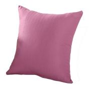 Bodhi2000 Plain Colour Throw Pillow Case Cushion Cover For Home Sofa Decor 45cm x 45cm