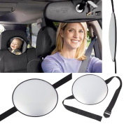 T-Trees New Car Adjustable Back Seat Mirror Rear View Headrest Mount Baby Safety Mirror