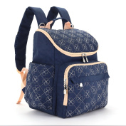Nappy Bag Backpack With Stroller Straps By BabyCu, . Multi-function Baby Travel Organiser For Women, Dark Blue