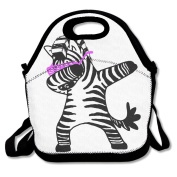 Dab Hip Hop Funny Zebra Dance Portable Food Bags Lunch Bags Convenient Lunch Packet Tote