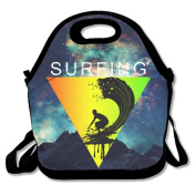 Surfing Sports Surfer Sports Lunch Tote Insulated Reusable Picnic Lunch Bags Boxes For Men Women Adults Kids Toddler Nurses