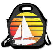 Surfing Sunset Surfer Lunch Tote Insulated Reusable Picnic Lunch Bags Boxes For Men Women Adults Kids Toddler Nurses
