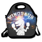 Funny Winosaur Wine Dinosaur Lunch Tote Insulated Reusable Picnic Lunch Bags Boxes For Men Women Adults Kids Toddler Nurses