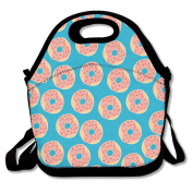 Donuts Lunch Tote Insulated Reusable Picnic Lunch Bags Boxes For Men Women Adults Kids Toddler Nurses