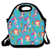 Mermaids Lunch Tote Insulated Reusable Picnic Lunch Bags Boxes For Men Women Adults Kids Toddler Nurses