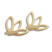 2 Pairs Lotus Flower Earrings Jewellery Simple Chic Earrings,Best Gift for others(Gold & Silver)