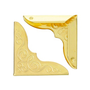 Light Gold Angle/ Protect Books/Notebooks/Other Decorations/ Corner Protectors 23x23mm-100