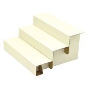 TAKA Knockdown Cardboard Risers 3 Step Display for Jewellery White W 29cm x D 26cm x H 15cm ( Made in Japan ) 44-5800