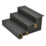 TAKA Knockdown Cardboard Risers 3 Step Display for Jewellery Black W 29cm x D 26cm x H 15cm ( Made in Japan ) 44-5801