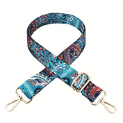 Umily Women Girls Wide Purse Strap Replacement Guitar Style Multicolor Canvas 80cm-140cm Crossbody Strap for Handbags