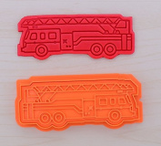 Firetruck Cookie Cutter and Stamp Set 100