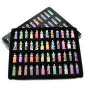 MZP 48 Bottles Nail Art Charms Kit Contain Random Nail Art Pearl/sequin/Glitter Powder/Acrylic/Rhinestone and So on