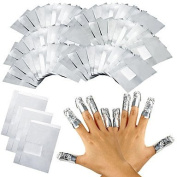 MZP 100Pcs/Lot Aluminium Foil Nail Art Soak Off Acrylic Gel Polish Nail Removal Wraps Remover Makeup Tool