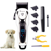 SURKER Professional Pet Supplies Dogs Hair Clippers Cats Horse Grooming Hair Trimmer kit Set with Nail Clippers and Nail file Pet Hair Clippers Heavy Duty LED Screen Non Slip