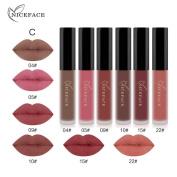 Hunputa 6PCS/Set New Fashion Waterproof Matte Liquid Lipstick Cosmetic Sexy Lip Gloss Kit