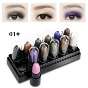 12 PCS Eyeshadow Set, Misaky Classy Intensity Shimmer Matt Pigmented Eyeshadow Pigment Palette