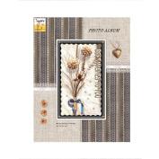 LANNA SHOP- Retro Photo Album Anniversary Scrapbook DIY Album,Wedding Memo Photos Album (29.2x23x5.1cm)