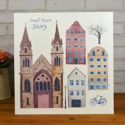 LANNA SHOP- Cartoon Photo Album,PU Anniversary Scrapbook DIY Album,Wedding Memo Photos Album (33.3x32.4x5cm)