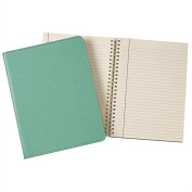 Wire-O-Notebook 23cm Robins-Egg Blue Fine Leather by Graphic Image™ - 7x 9