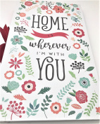 """Home is Wherever I'm With You"" Floral Theme PHOTO ALBUM, Holds 300, 10cm x 15cm Photos"