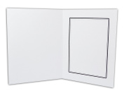 Golden State Art, White Cardboard Photo Folder For a 5x7 Photo - 50 Pack
