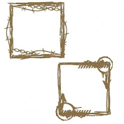 Square Grunge Frames Laser Cut Chipboard - 2 piece set