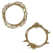 Circle Grunge Frames Laser Cut Chipboard - 2 piece set