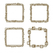 Square Doodle Frames Laser Cut Chipboard - 4 piece set